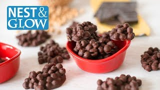 Quick 2-Ingredient Protein Candy Recipe - Chickpea and Chocolate Clusters