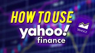 HOW TO USE YAHOO FINANCE 2020!! screenshot 4