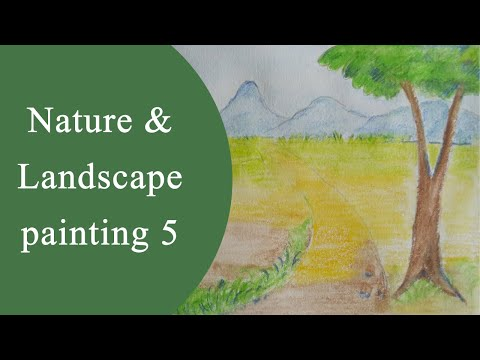 Landscape and nature painting with watercolour pencils – 5