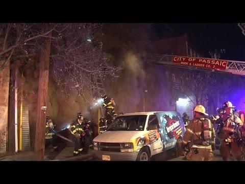 Passaic,NJ Fire Department Multiple Alarm Fire  4/11/17