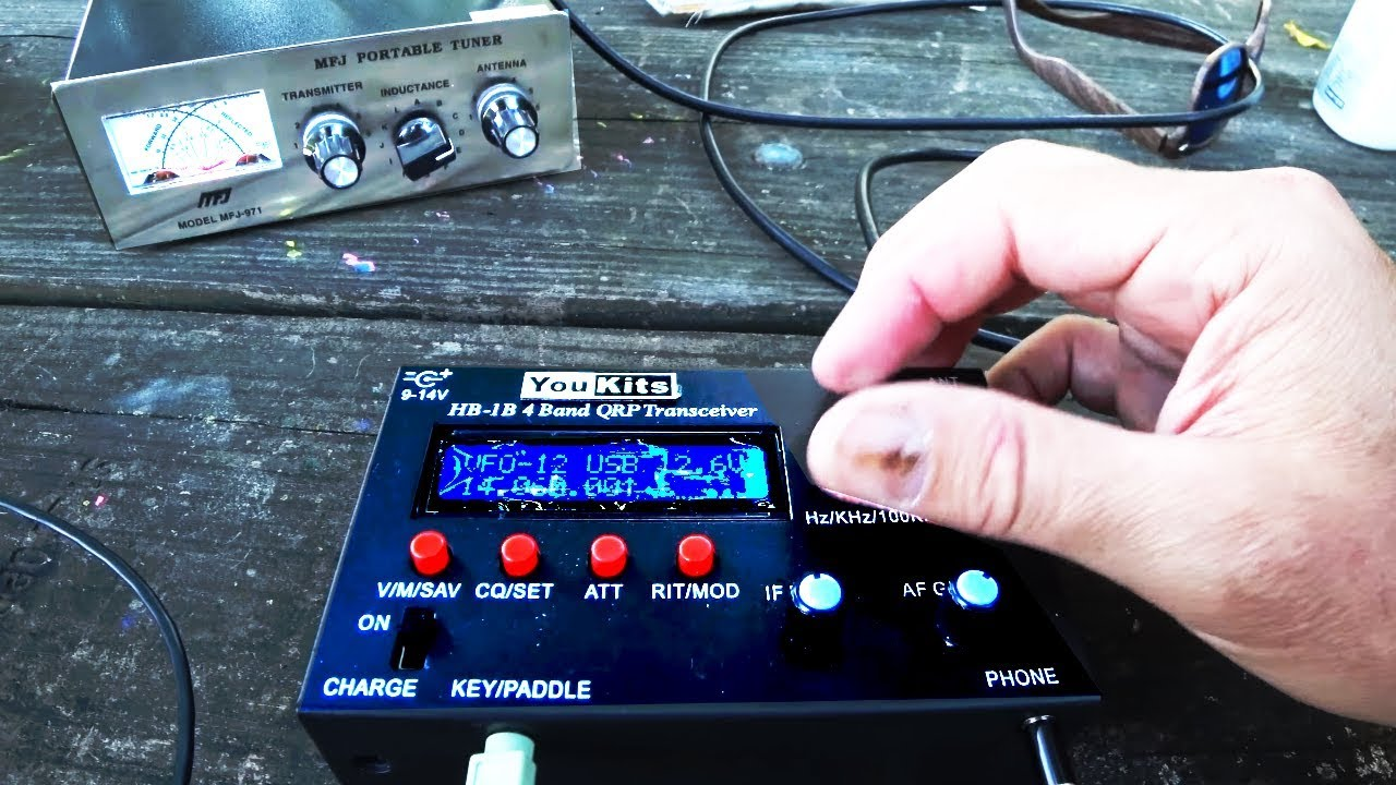 YouKits QRP RIG SUCCESS!!! | MFJ 971 Portable Antenna Tuner Works