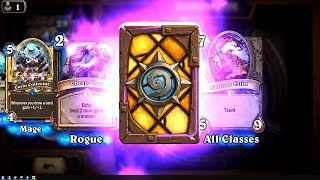 Bogshaper + Cursed Castaway + Curio Collector - The Witchwood Hearthstone epic and rare card pack op