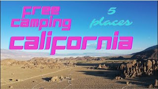 Free Camping in California
