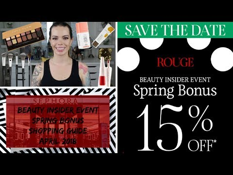 Sephora VIB Spring Bonus Buying Guide | April 2018