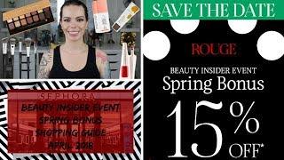 Sephora VIB Spring Bonus Buying Guide | April 2018