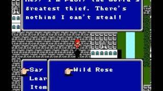 Final Fantasy 2-NES 8bit gameplay