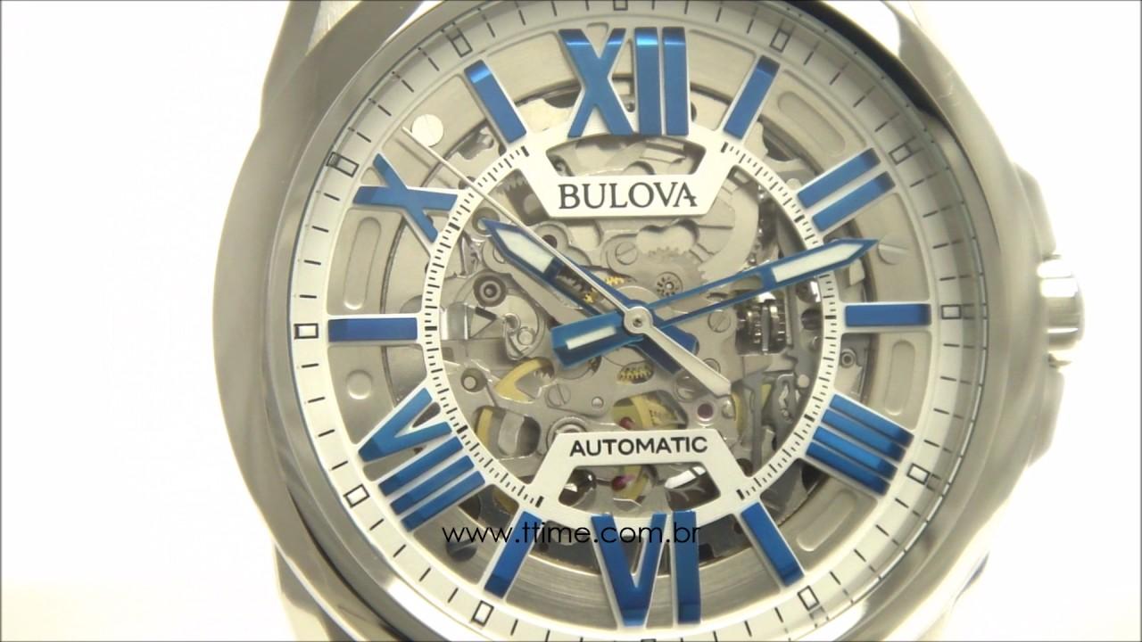 5de27c74371 RELÓGIO BULOVA ESQUELETO AUTOMÁTICO WB31998F