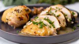 Instant-pot whole herb chicken -