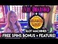 Zeus Unleashed Free Spins BONUS!! Even Better Line hit on Dragon Link Slot Machine!!