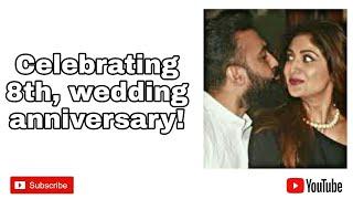 shilpa shetty and raj kundra39s 8th wedding anniversary
