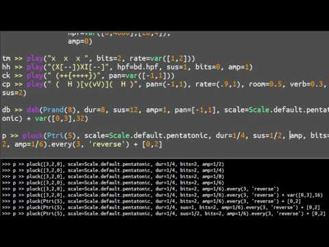 Testing and jamming - Live Coding with FoxDot