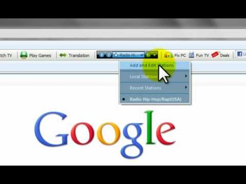 How To Add A Radio Station To Your Toolbar - Http://www.tvhod.com