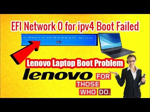 Lenovo Laptop Booting Problem - Repair EFI Network 0 For IPv4 Problem - Boot Failed | RJ Solution |