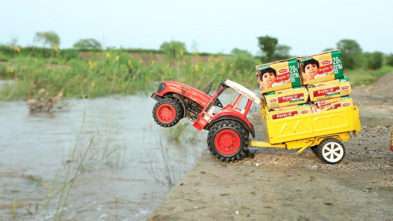 Midi Jcb Loading PARLE-G PoLo Truck | Dump Truck | Bruder Tractor | kids video | CS Toy