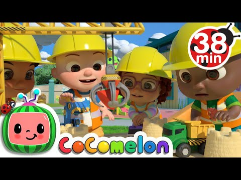 Construction Vehicles Song  + More Nursery Rhymes & Kids Songs  CoComelon