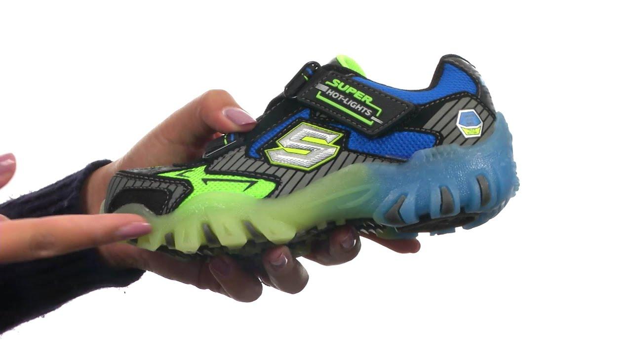 Little Boy's Skechers, Hot Lights Street Lightz Halt Tennis Shoe