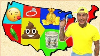 THROWING A DART At A Map & DOING Whatever it LANDS ON! (WINNER GETS $10,000)
