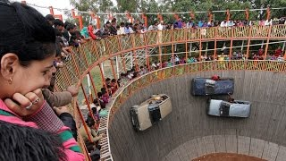 Wall of death  in Indian fair.