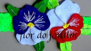 Orquideas de Feltro – Fabric flower tutorial por Flor do Jardim