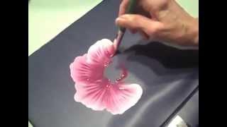 رسم وردة جميلة بالألوان الزيتية..بطريقة مميزة..♥