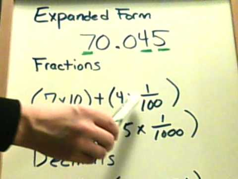 expanded form using fractions or decimals  Homework 8 - Write in Expanded Form. - YouTube