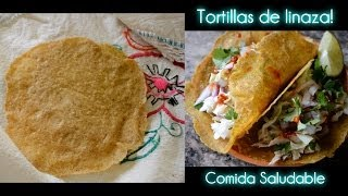 Tortillas de Linaza! Receta Saludable