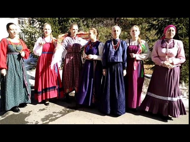 Изображение предпросмотра прочтения – НадеждаГорбунова читает произведение «Малые жанры фольклора. Закличка Весна пришла!» (Русский фольклор )