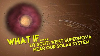 WHAT IF UY SCUTI WENT SUPERNOVA NEAR OUR SOLAR SYSTEM