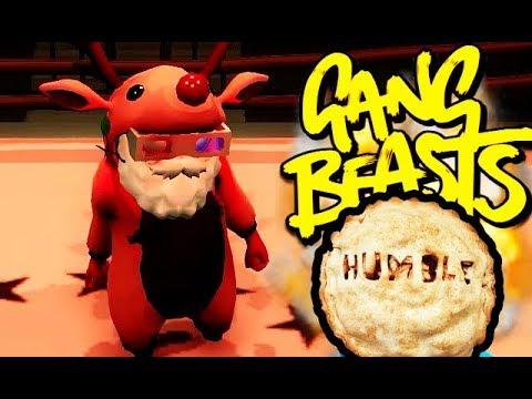 GANG BEASTS ONLINE - Reindeer Serving Some Humble Pie...