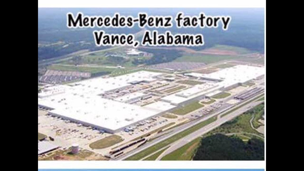 Mercedes benz german automobile has production plant in for Mercedes benz manufacturing plant in usa