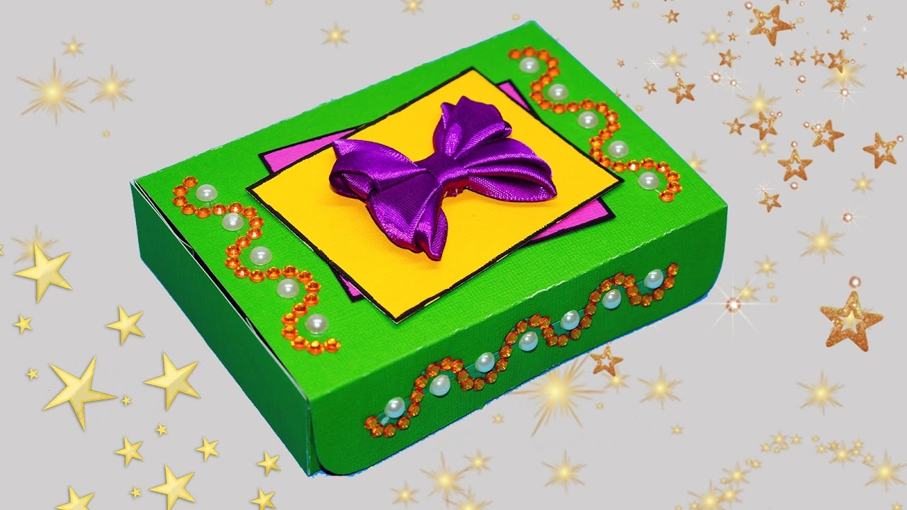 How To Make Gift Box Easy Diy Crafts Paper Gift Box Making Diy