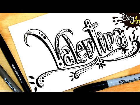 0e781faf0 Dibujar mi nombre  Valentina  Draw my name  Valentina  Easy Art - YouTube