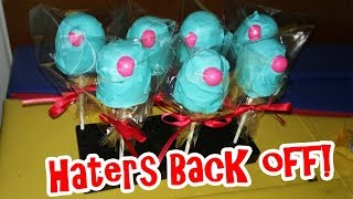 Miranda Sings HATER&#39S BACK OFF  DIY FROZE ToeToes CAKE POPS Tutorial  CrazyAdventuresWithCoCo