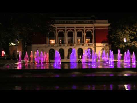 Сух фонтан(Dry Fountain,Ruse Bulgaria-night), гр.Русе вечер.FULL HD