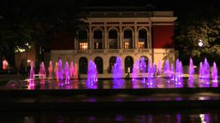 Сух фонтан(Dry Fountain,Ruse Bulgaria-night), гр.Русе вечер.FULL HD