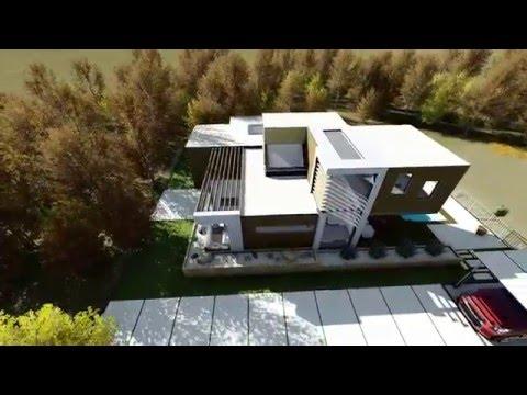 3d Walkthrough Modern House Youtube