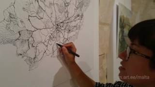 Co op drawing map of Gozo at Malta Art Camp