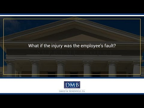 What if the injury was the employee's fault?