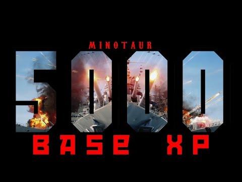 5k base XP minotaur game (NA Record) World of Warships
