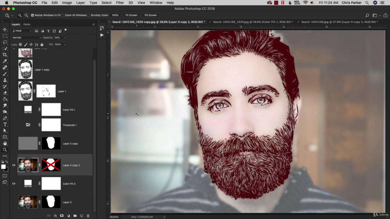 How To Transform a Portrait Into Vector Art|Make Your Cartoon|Adobe Photoshop