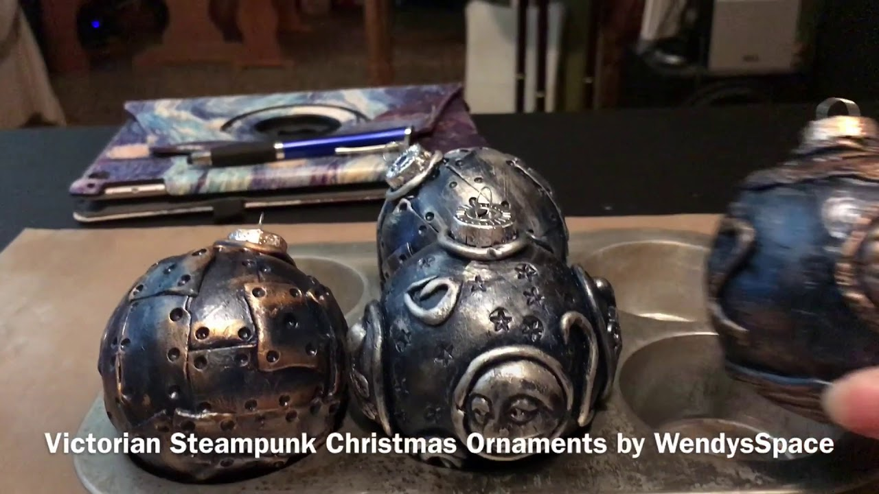 Victorian Steampunk Christmas 2020 Photos Victorian Steampunk Christmas Ornaments by WendysSpace   YouTube