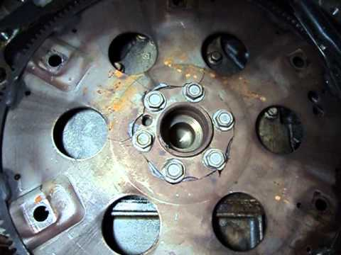 Broken flexplate (flywheel) - YouTube