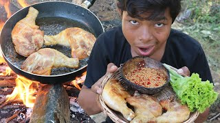 Cooking chicken in the forest and Eating Ep004