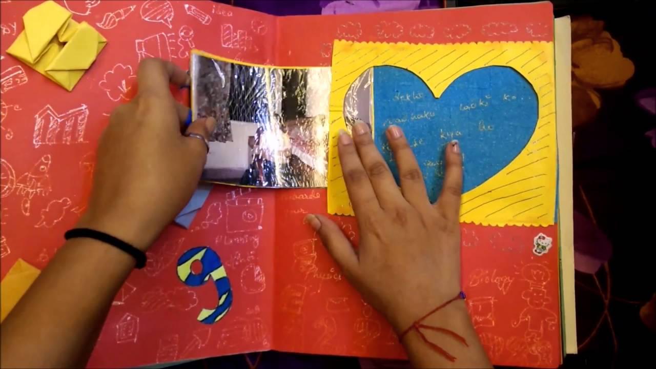 Handmade scrapbook ideas for birthday - Handmade Scrapbook For Best Friend