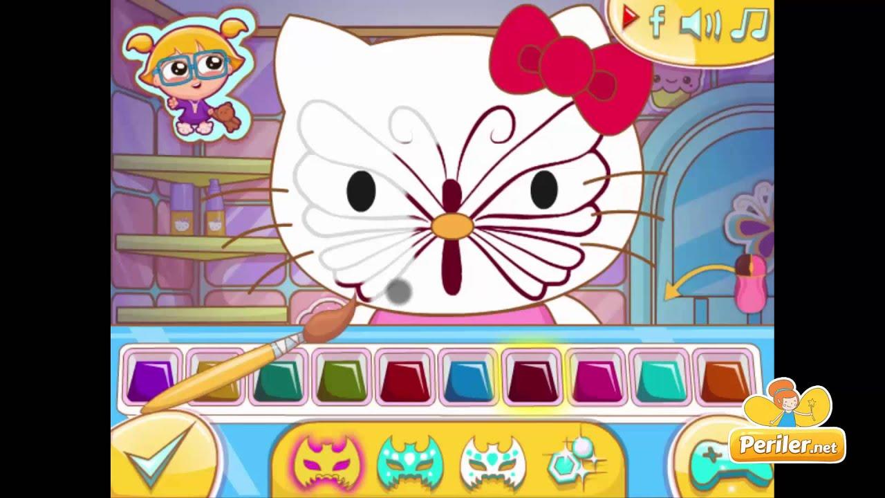 Hello Kitty Yuz Boyama Oyunu Youtube