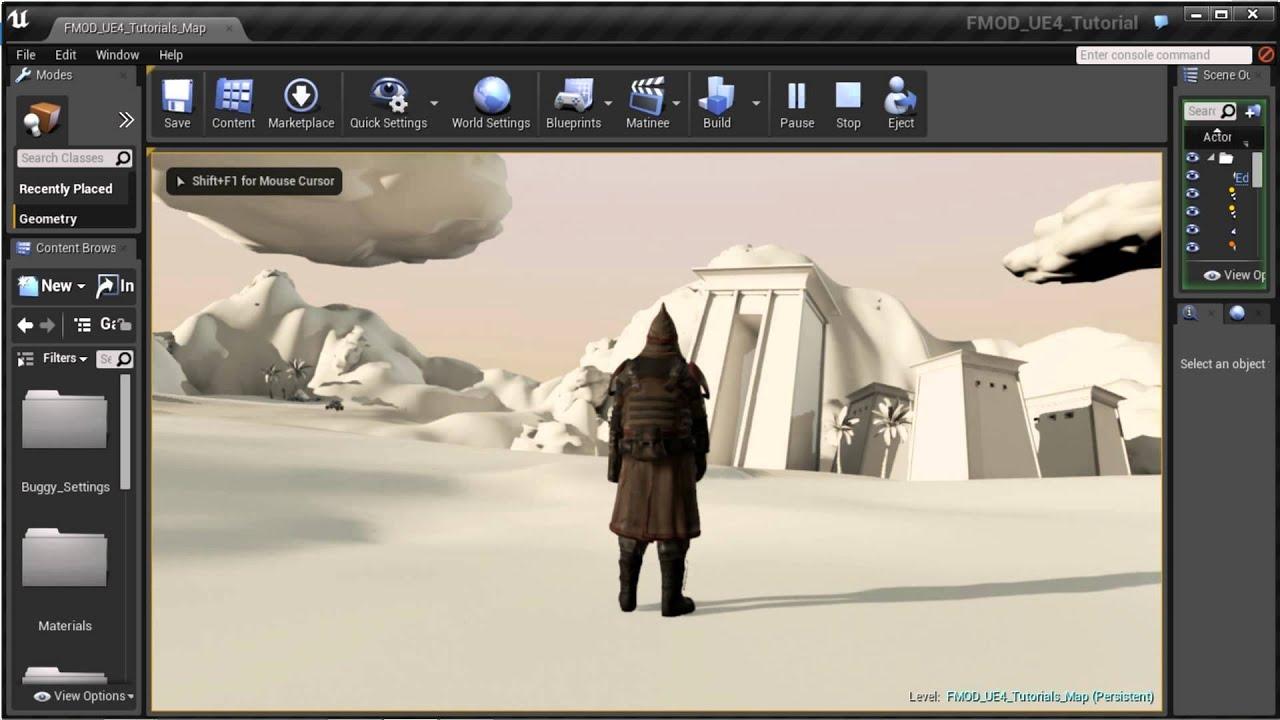 FMOD Studio for UE4 Video 1 - Getting Started