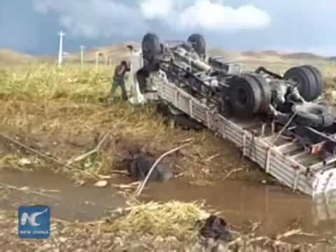 Powerful tornado hits Inner Mongolia in N China