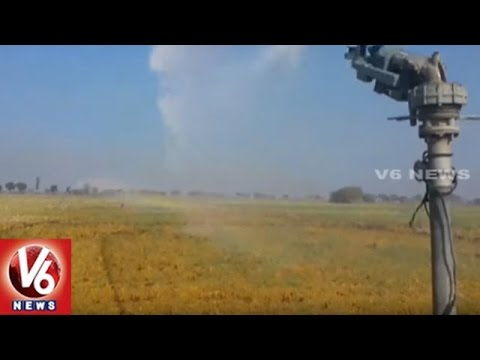Rain Gun Sprinkler System   AP Govt Initiates Technology To Wet Agriculture Lands   V6 News