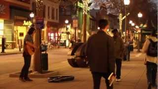 Busking in Santa Cruz, California