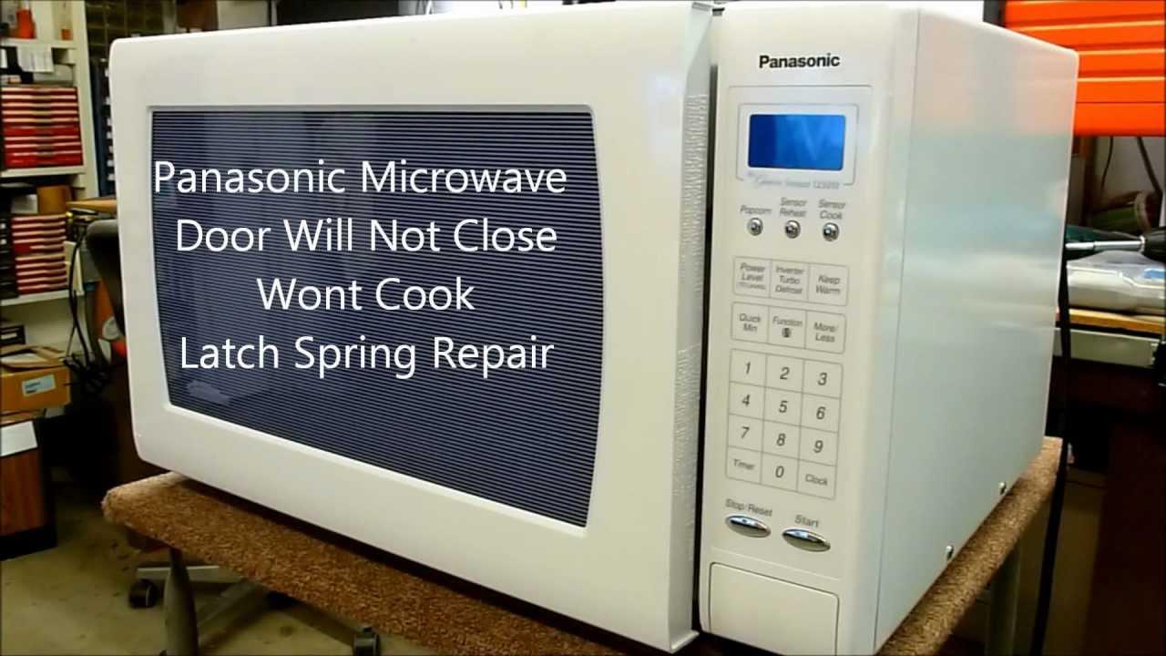 panasonic microwave oven door wont won